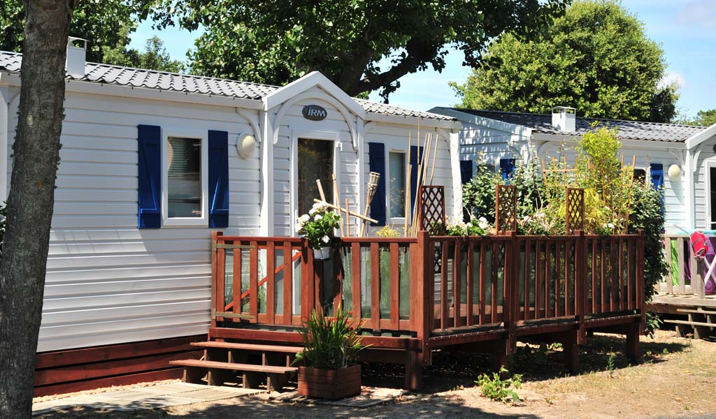 Mobile home for rent in Saint-Hilaire in Vendée at Le Bois Tordu campsite