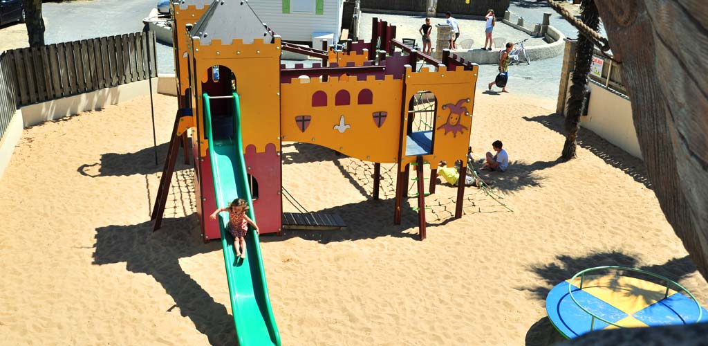 The children's playground at the Bois Tordu campsite in Vendée